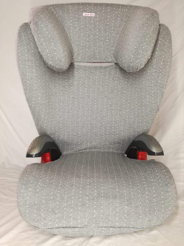con pontos amarillos Moon-bebe funda para silla romer kid plus gris