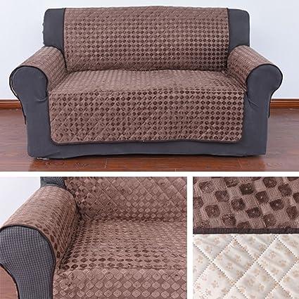 HDM antideslizante 2 plazas 171x256,5 cm cubierta de sofá en color marrón café sillón protector Soft Touch sofá cubierta sillón de protección Sofá ...