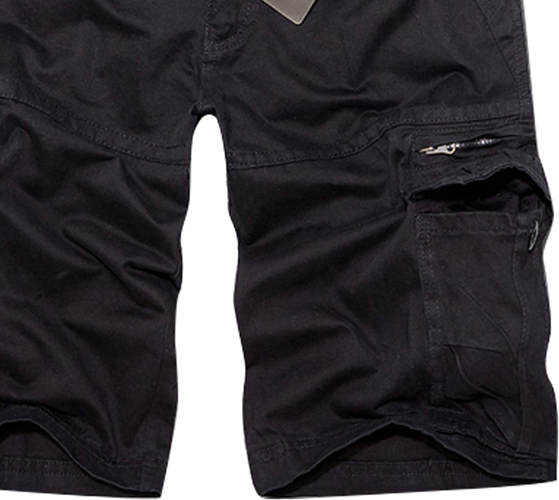 Panegy Nuevo Pantalones de Cargo Hombres Multi-Bolsillo Bermuda Cortos Deporte Shorts Casual Cl/ásico con Una Correa