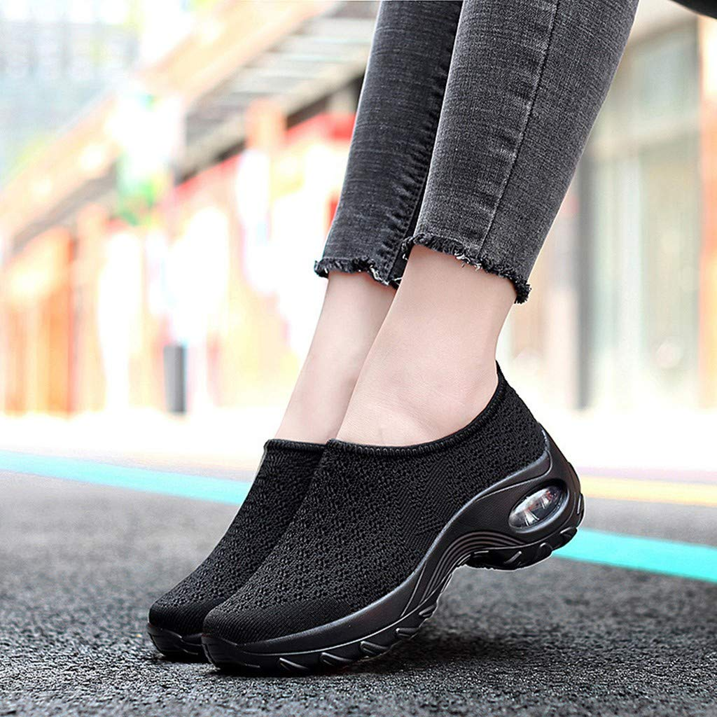 Moonker Women Sneakers Wide Width Support Walking Shoes Ladies Girls Fashion Suede Flying Weave Air Cushion New Shoes