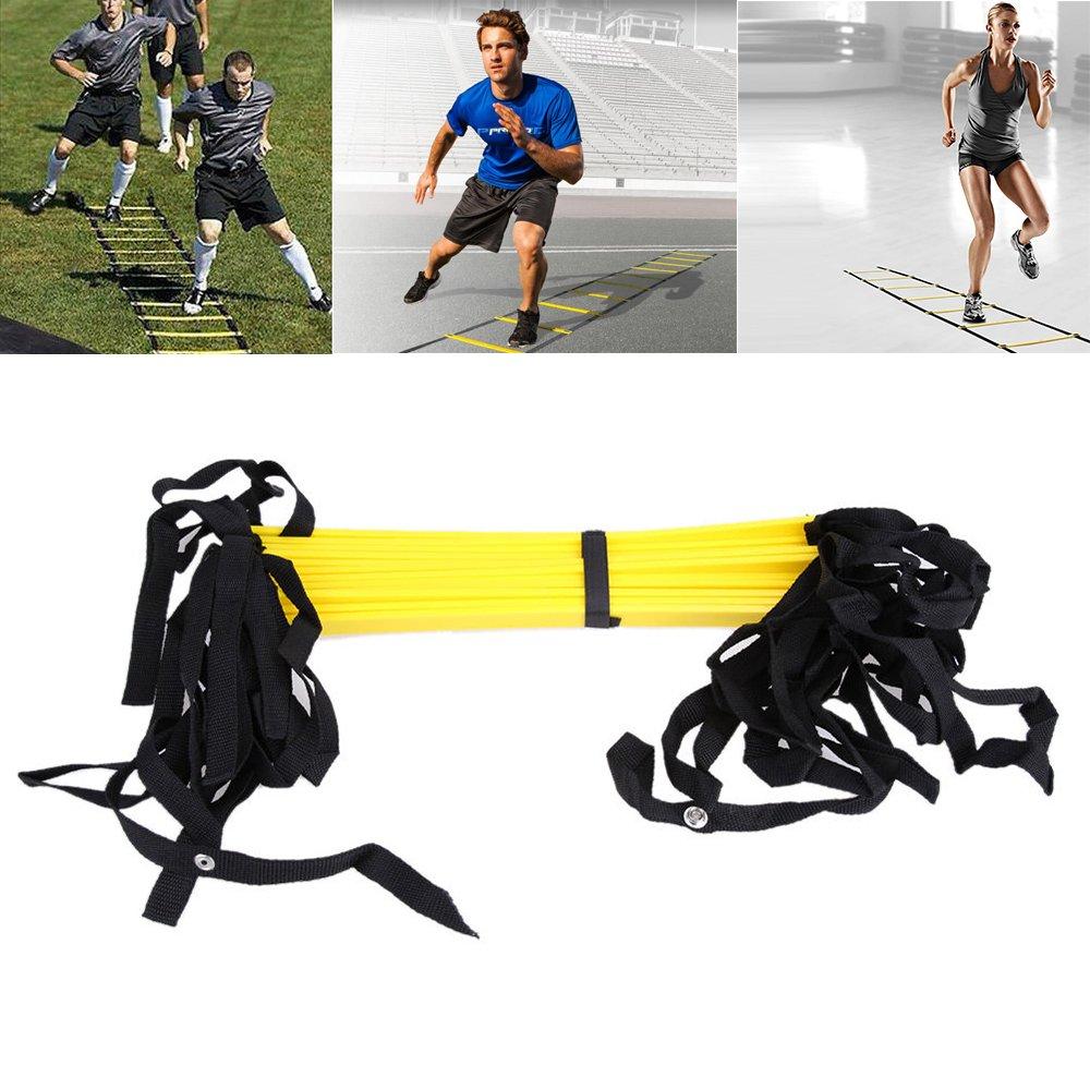 twbbt 6//8//10//12 Rung Agility Ladder for Soccer Speed Football Fitness Feet Training