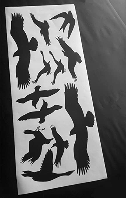 Fmji window alert bird stickers silhouettes glass door protection save birds black by