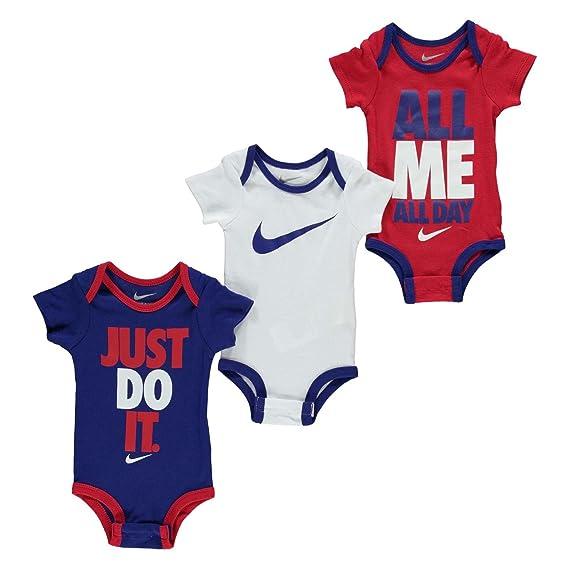 10b2ef08c Nike 0-6 Months Baby Boys Swoosh 3 Pack Romper Girls Baby Showers Clothing  Gift: Amazon.co.uk: Clothing