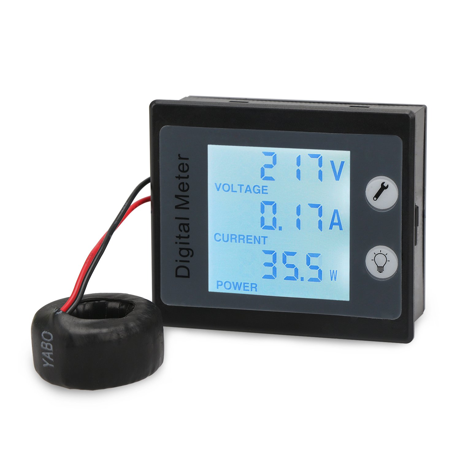 71ljuX31usL._SL1500_ drok 80 260v ac multifunciton digital meter with ct, 100a ammeter powermonitor 1000 wiring diagram at alyssarenee.co