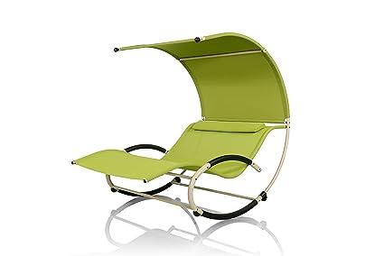 Amazon.com: Mentoriend Steel Alpha Rocking Bed,Patio Wave Chair ...