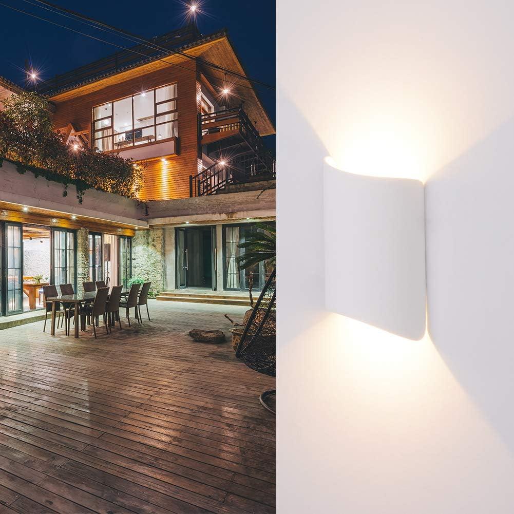 Außenleuchte mit Bewegungsmelder LED Wandleuchte Bewegungsmelder Aussen 12W Wasserdicht IP65 Aussenlampe, Wandleuchte Innen Sensor für Garten/Flur/Weg Veranda Hell -Natürliches Weiß (Weiß) Weiß Warmweiß
