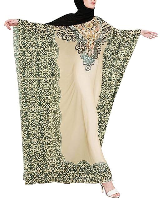 zhbotaolang Vestidos de los Arabes Mujer - Caftan Musulman Abrigo Maxi Largo Elegantes Abaya Dubai Gasa: Amazon.es: Ropa y accesorios
