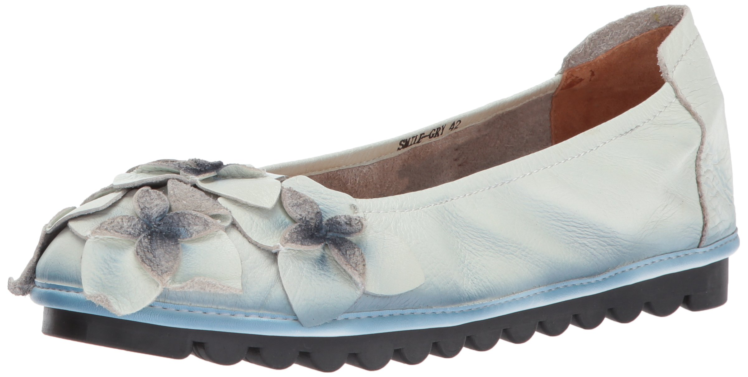 L'Artiste by Spring Step Women's Smile Mary Jane Flat, Gray, 40 EU/9 M US