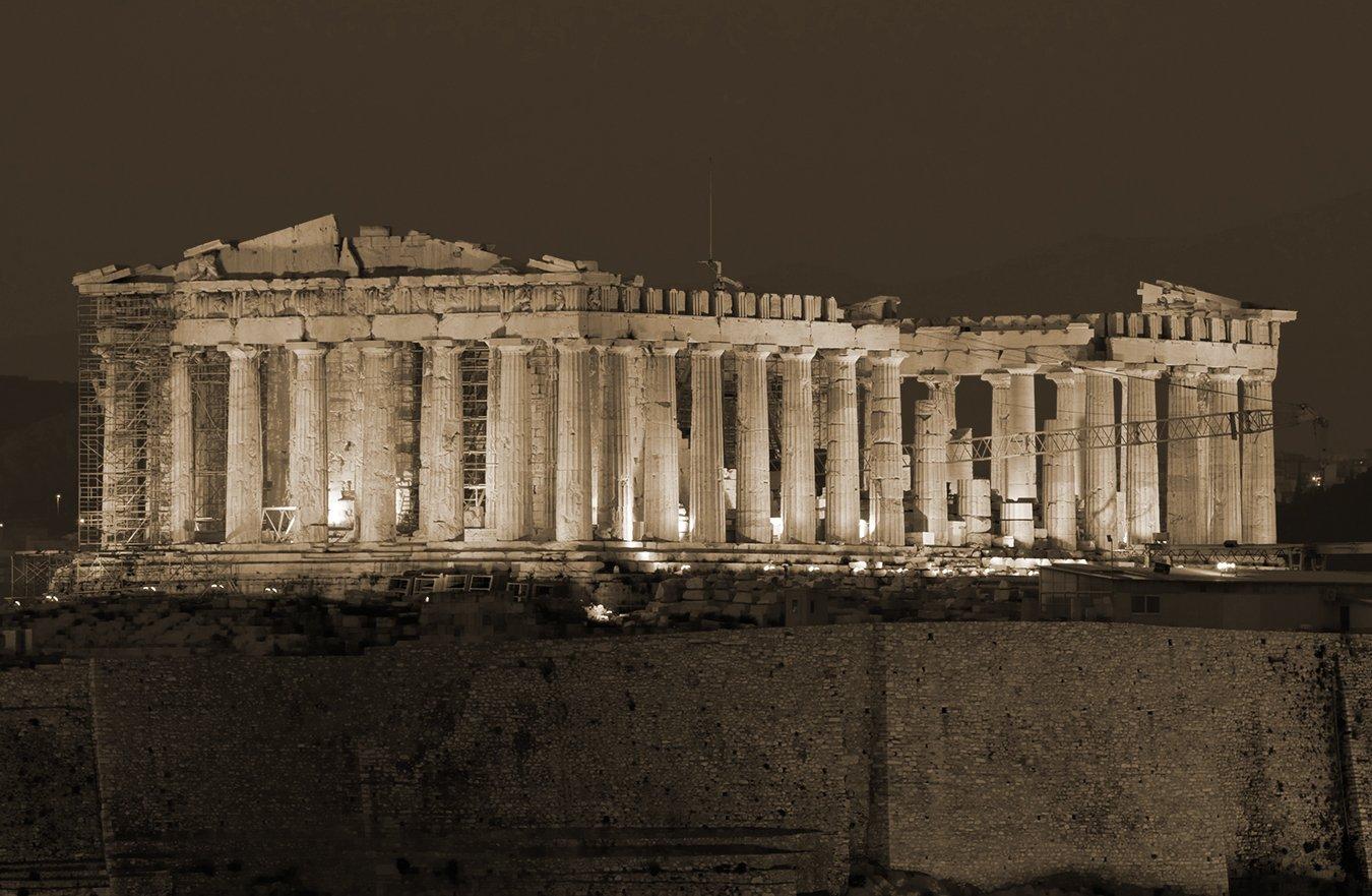 Bilderdepot24 Vlies Fototapete - Akropolis - - - 230x150 cm - mit Kleister – Poster – Foto auf Tapete – Wandbild – Wandtapete – Vliestapete B06W5BM266 Wandtattoos & Wandbilder e81410