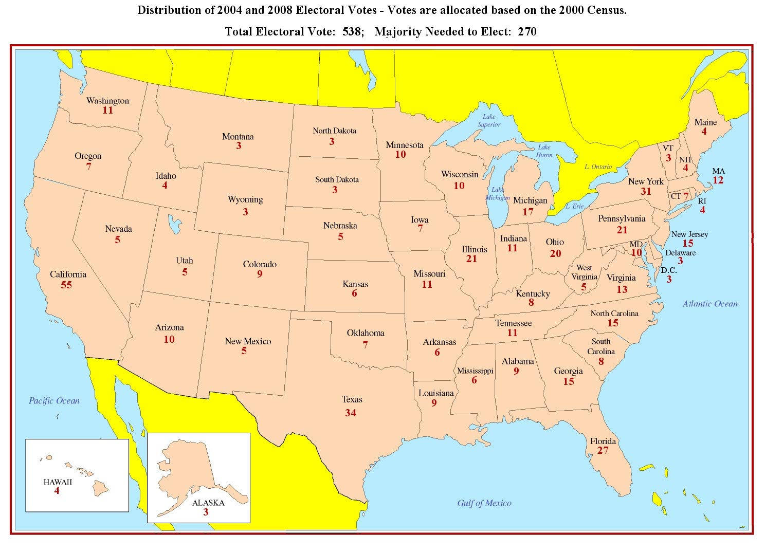 Amazon.com: Home Comforts Laminated Map - Us Map States ...