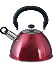 Mr. Coffee 91407.02 Flintshire Tetera silbante de acero inoxidable, 1.65 L