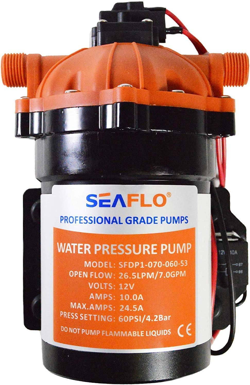 SEAFLO 53-Series Water Pressure Diaphragm Pump - 12V DC, 7.0 GPM, 60 PSI