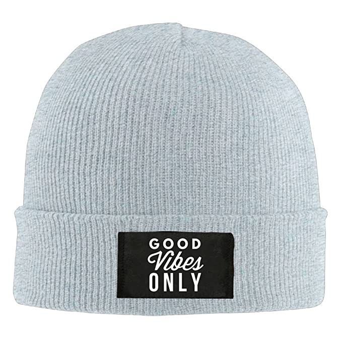 51073e61752 Ski Hats Slouchy Wool Cap Unisex Winter Good Vibes Only 9 at Amazon Men s  Clothing store