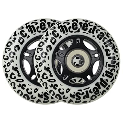 WHITE CHEETAH Wheels for RIPSTICK ripstik wave board ABEC 9 76MM 89A OUTDOOR Model: DECK : Sports & Outdoors