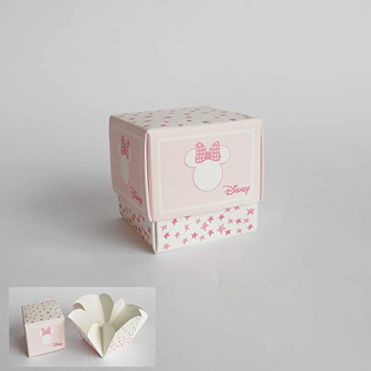 Detalle Caja cubo Confeti Minnie Disney Rosa set 20 piezas art 68065: Amazon.es: Hogar