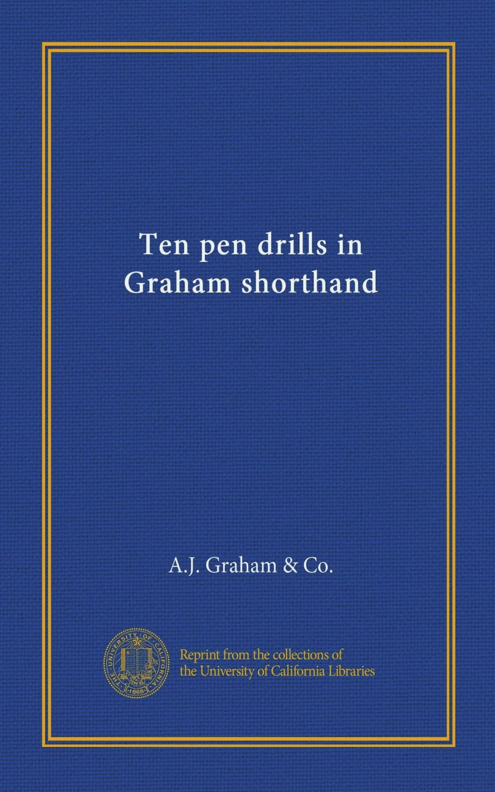 Download Ten pen drills in Graham shorthand pdf