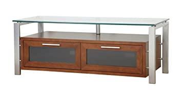 Amazon Com Plateau Decor 50 Ws Wood And Glass Tv Stand 50 Inch