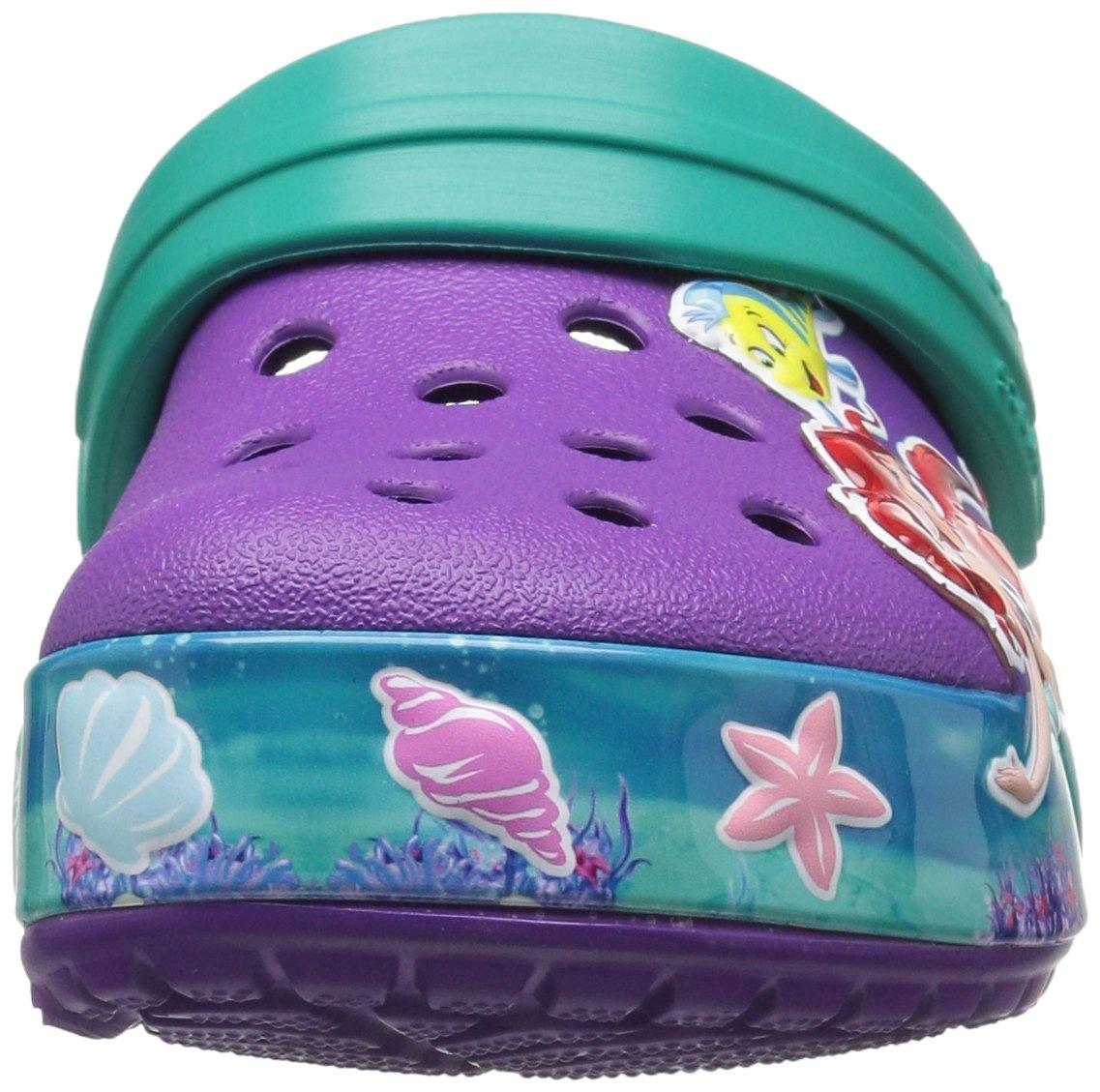 Crocs Girls' CB Princess Ariel K Clog, Amethyst, 13 M US Little Kid by Crocs (Image #4)