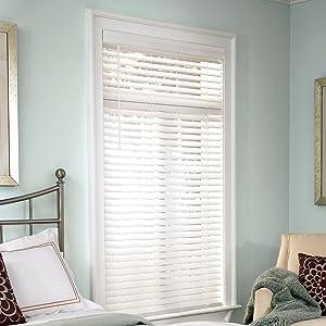 Lumino 2-inch Faux Wood Cordless Room Darkening Blinds White - 35.5