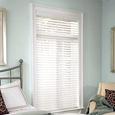 Lumino Faux Wood 2  Cordless Room Darkening Blinds White - 42  W x 72  H (Over 250 Add'l Custom Sizes) - Starting at $14.99