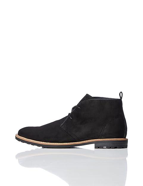 6563d33c Botín Tipo Safari para Hombre, Negro (Black), 46 EU: Amazon.es: Zapatos y  complementos