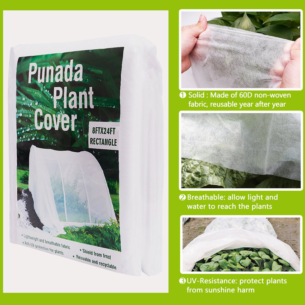 Amazon.com : punada Premium Plant Covers Freeze Protection 8Ft x ...