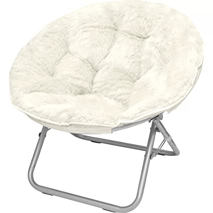 Attrayant Soft Spacious Durable EASY CARE WHITE Mongolian Fur Papasan Chair   Adds An  Attractive Touch To