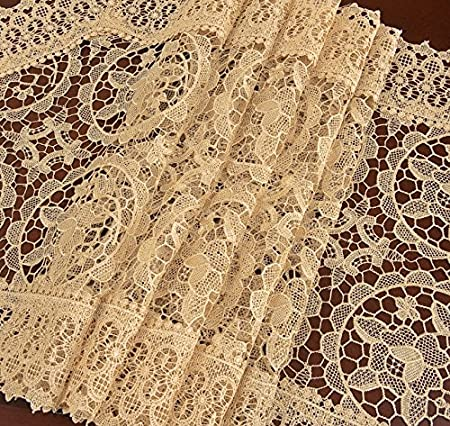 Simhomsen Customized Beige Lace Table Runner and Scarf 16 /× 90 Inch Long