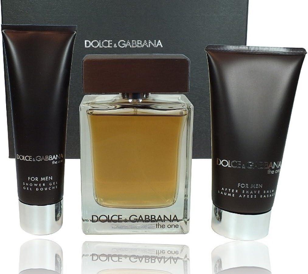 DOLCE GABBANA THE ONE MEN EAU DE TOILETTE 100ML VAPO. + AFTER SHAVE75ML + GEL 50ML: Amazon.es: Belleza