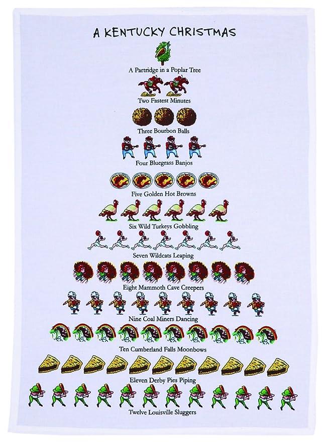 Amazon.com: Mistletoe & Co. a Kentucky Christmas Kitchen Towel, 18 ...