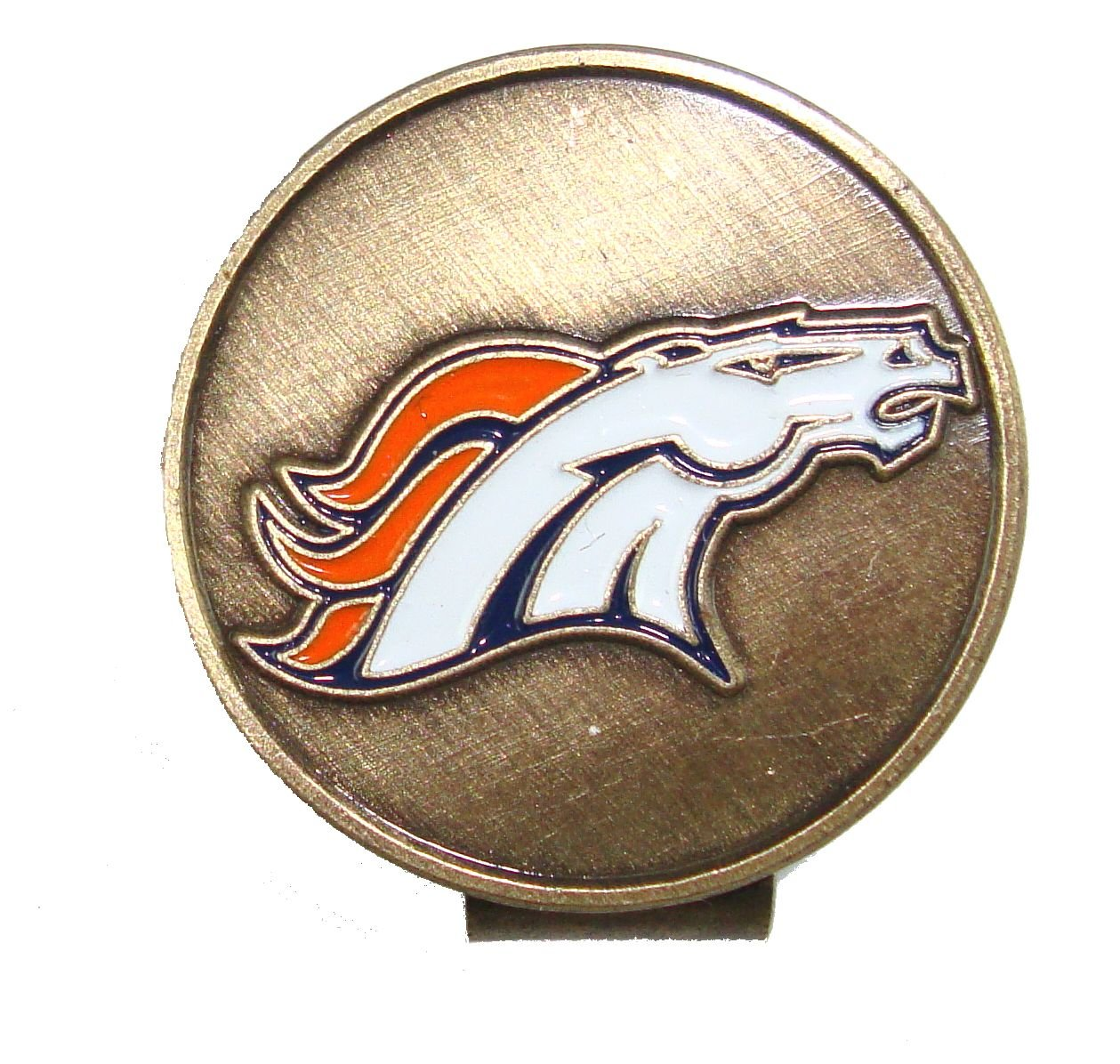 Denver Broncos Golf Hat Clip & Divot Tool with Golf Ball Markers by Waggle Pro Shop (Image #4)
