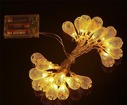 Amazon shinein 7ft 20pcs led battery powered chandeliers shinein 7ft 20pcs led battery powered chandeliers string lights for christmas displayfencepatio aloadofball Image collections