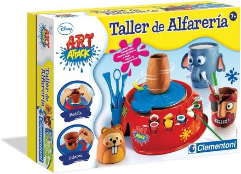 BricoLoco. Taller de alfarería art attack para niños y niñas. Juego con torno alfarero infantil.