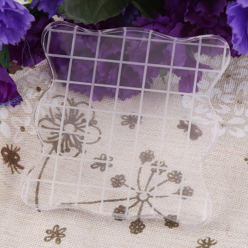 Acrylic Stamp Block,Acrylic Clear Stamping Blocks Tools for Scrapbooking Crafts Card Making 5 * 5cm Assorted Sizes for Scrapbooking Crafts Making
