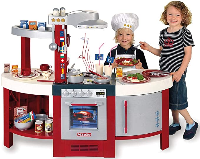 Theo Klein-9155 Miele Cocina Gourmet International Con Numerosos Accesorios, Juguete, multicolor, 2+ (Klein 9155)
