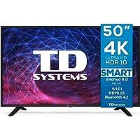 TD Systems K50DLJ11US - Televisores Smart TV 50 Pulgadas 4K Android 9.0 y HBBTV, 1500 PCI Hz UHD HDR, 3X HDMI, 2X USB…