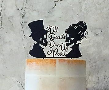 Till Death Do Us Part Cake Topper Skull Wedding Cake Topper