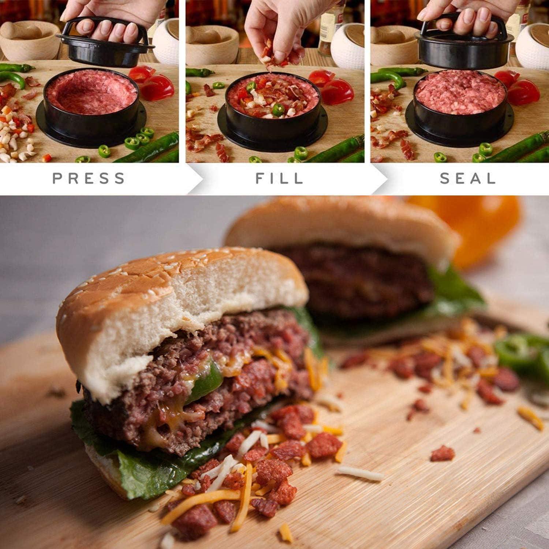 Burgerpresse Patty Maker mit 150 Blatt Backpapier Patties oder Frikadellen Grillzubeh/ör 3 in 1 mit Antihaftbeschichtung Burger Patty Presse f/ür leckere Burger sp/ülmaschinenfeste Hamburger Presse