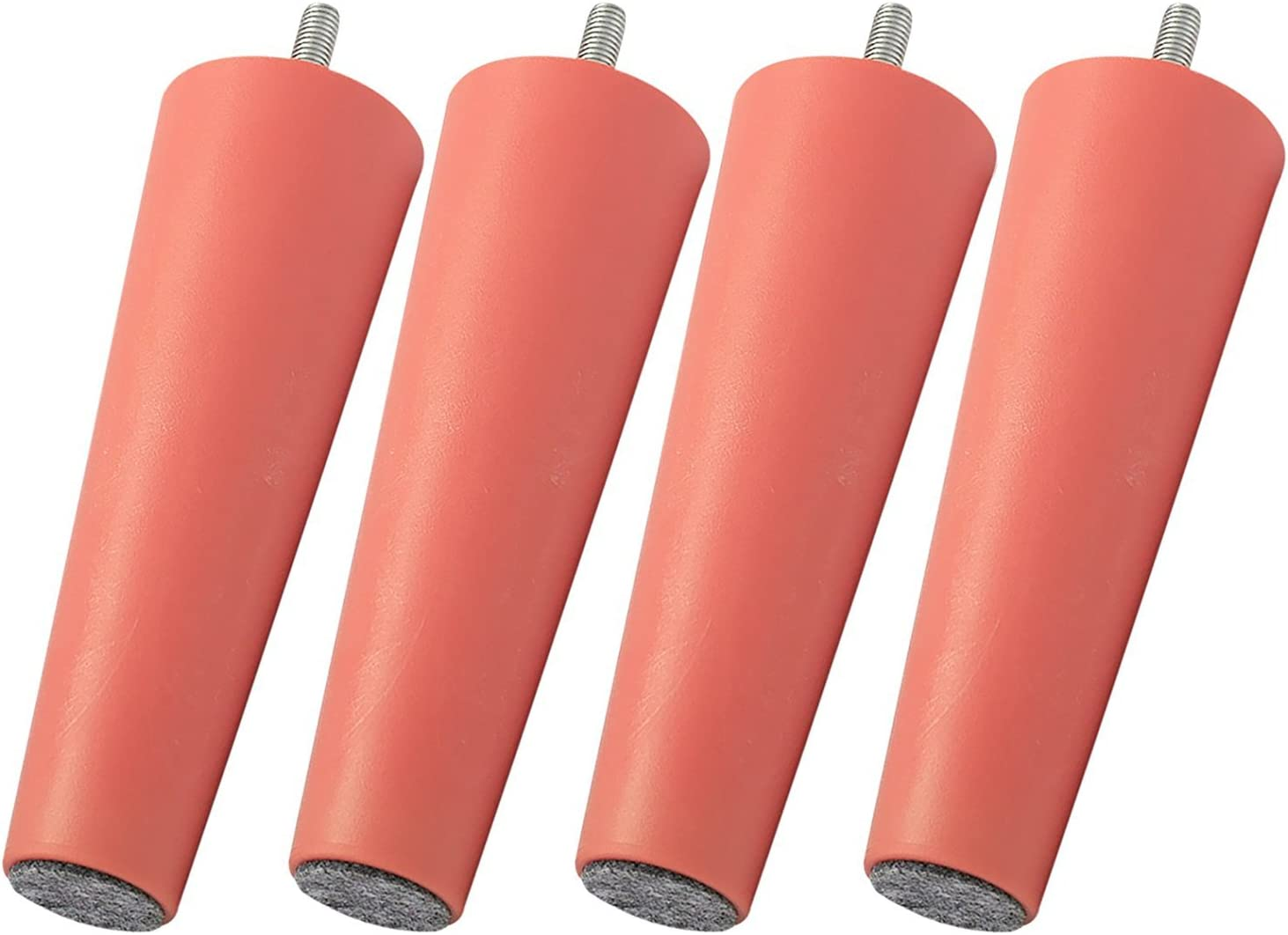 LEGHEADS 6 Inch M8 IKEA Replacement Furniture Legs, Superior Quality Couch Legs, Sofa Legs, Bed Risers - M8 / 8mm (Metric/IKEA) 4 pieces