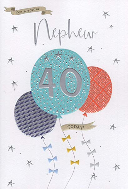 Astonishing For A Special Nephew On Your 40Th Birthday Card Amazon Co Uk Funny Birthday Cards Online Alyptdamsfinfo