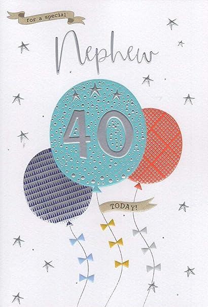Para un especial sobrino en tu 40th Tarjeta de cumpleaños ...