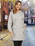 Avoogue Rain Coats for Women Waterproof Long Hooded