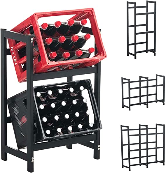 Clp Drinks Crate Stand Stack I Space Saving Robust Crate Rack For Drinks Crates I Available In Various Sizes And Colours Amazon De Kuche Haushalt