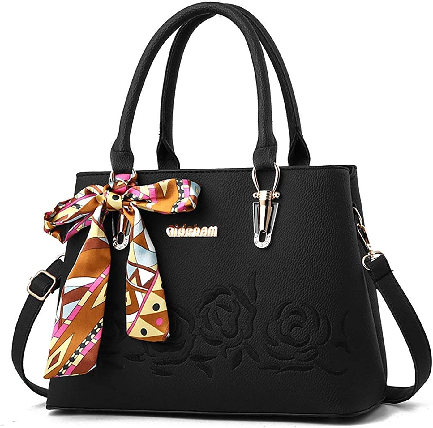 Zhao Liang Women Handbag PU Leather Embroidered Purse Elegant Top Handle Bag Shoulder Bags Satchel Ladies