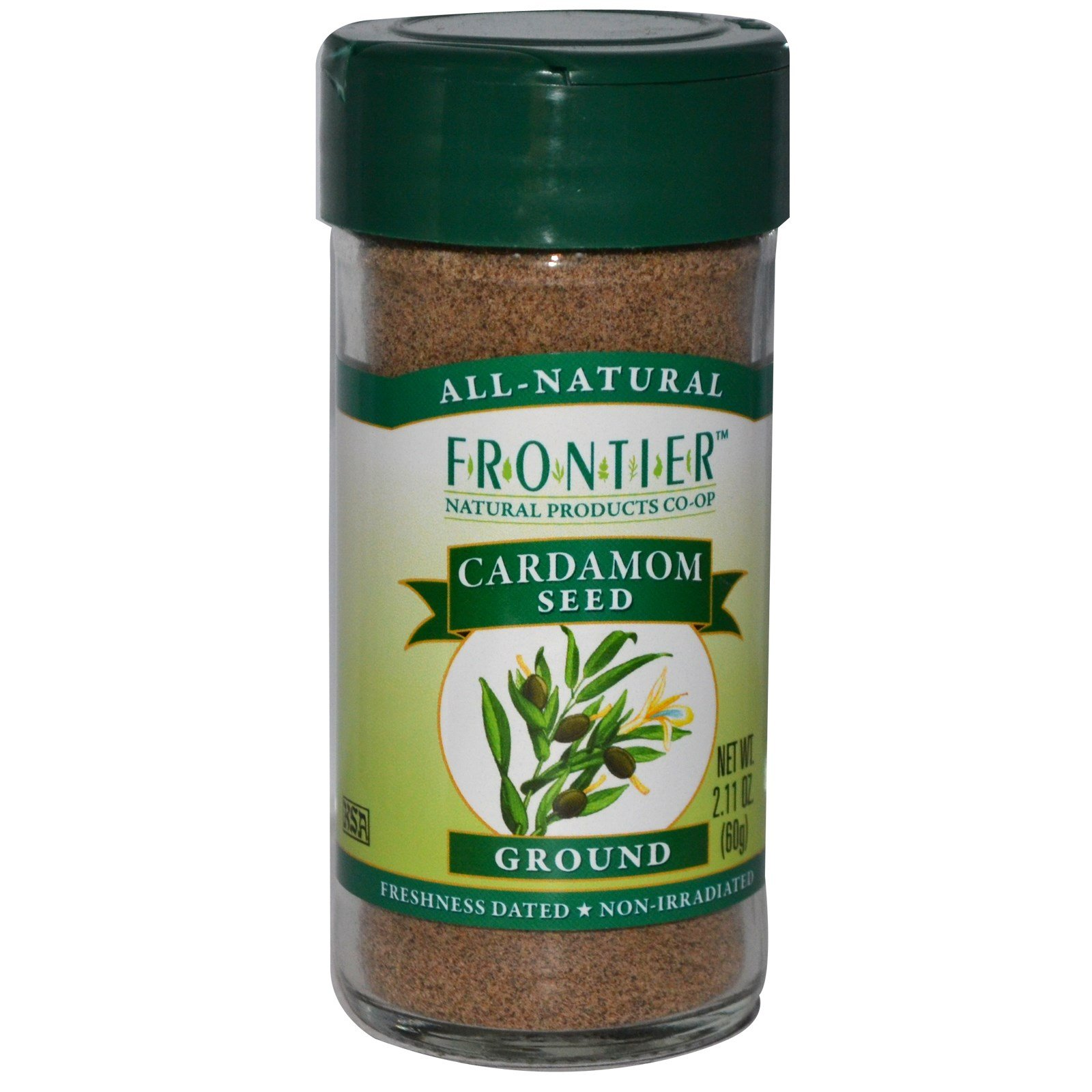 Frontier Natural Products, Cardamom Seed, Ground, 2.11 oz (60 g) -- 2PC