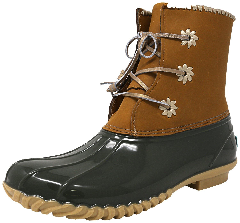 Jack Rogers Women's Chloe Rain Boot B06XF4QRKG 7 B(M) US|Olive Natural