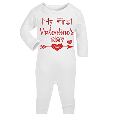 Personalised my first valentines day baby romper baby gifts personalised my first valentines day baby romper baby gifts valentines day babywear sleepsuit new baby gifts negle Images