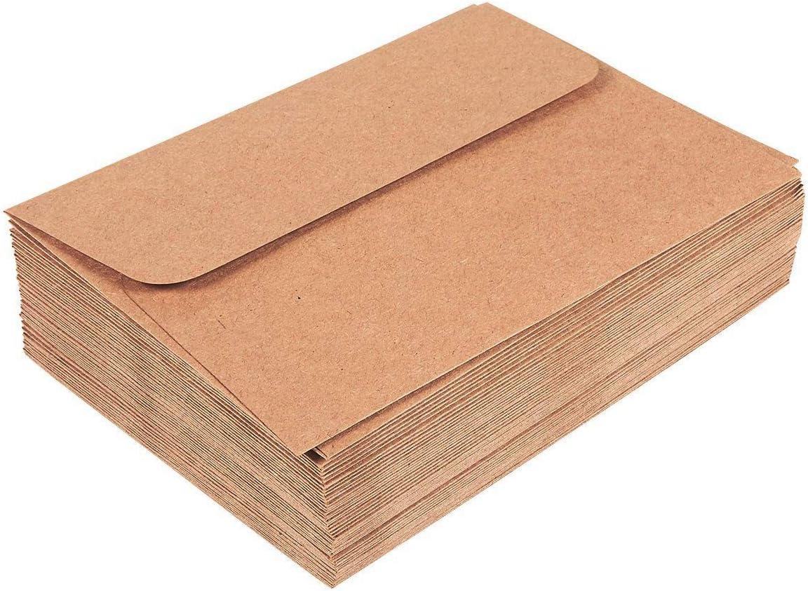 50/St/ück braune A7-Umschl/äge f/ür 5/x 7/Gru/ßkarten 50 St/ück 13,3/x 18,4/cm Sparpackung quadratischer Briefumschl/äge Einladung und Ank/ündigungen