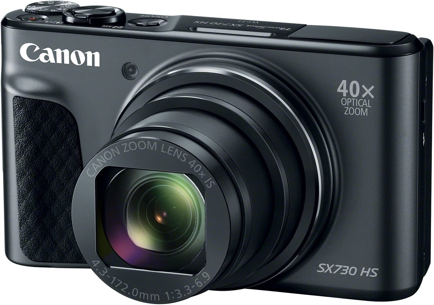 Canon PowerShot SX730 Digital Camera w/40x Optical Zoom & 3 Inch Tilt LCD - Wi-Fi, NFC, Bluetooth Enabled (Black) (Renewed)