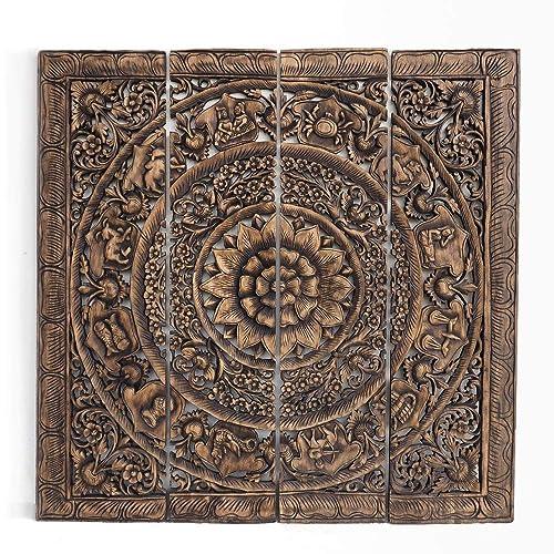 Amazon Com Feng Shui Zodiac Wall Art Asian Wooden Panels Hand